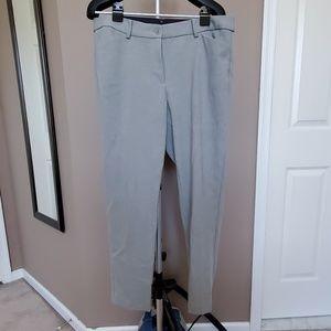 Talbots' Hampton Ankle Pants, Light Gray, Size 14